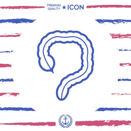 Human organ - the large intestine icon Stock Vector - 88291618