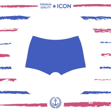 Sous-vêtements pour hommes, la silhouette. Élément de menu dans le design web Banque d'images - 88259272