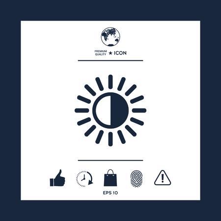 Brightness icon vector illustration.
