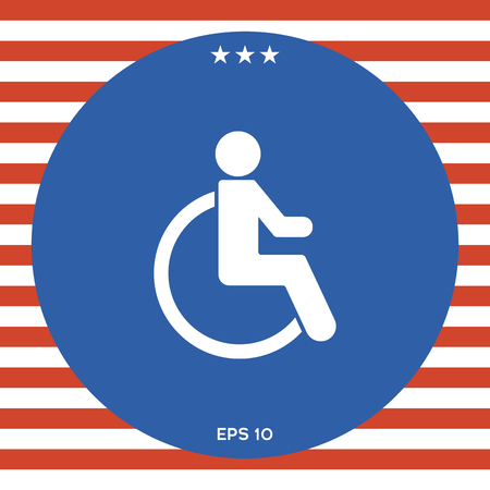 Wheelchair handicap icon Vectores