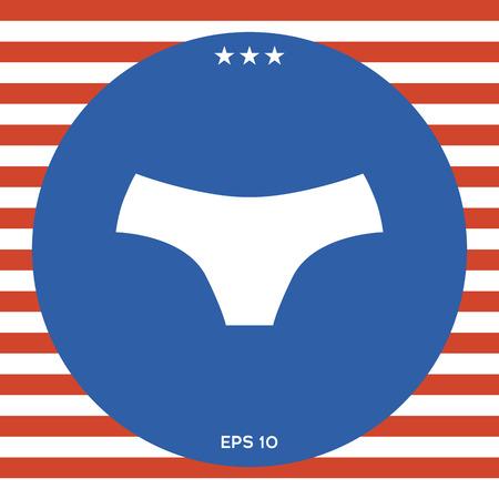 Women panties, the silhouette. Menu item in the web design