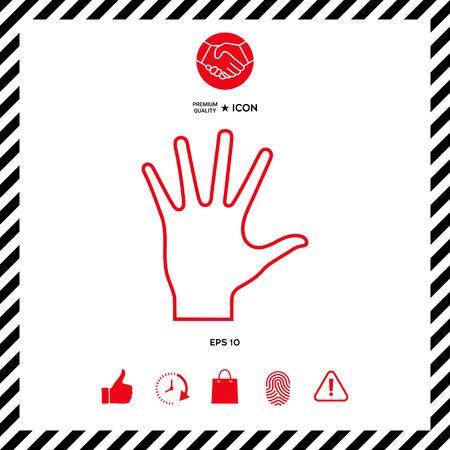Helping hand - line icon Illustration
