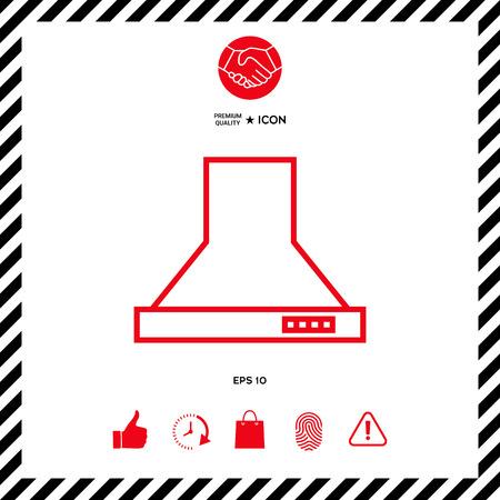 range hood: Kitchen hood linear icon Illustration