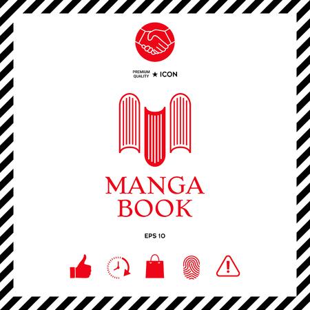 Elegant with book symbol - like the letter M Illustration