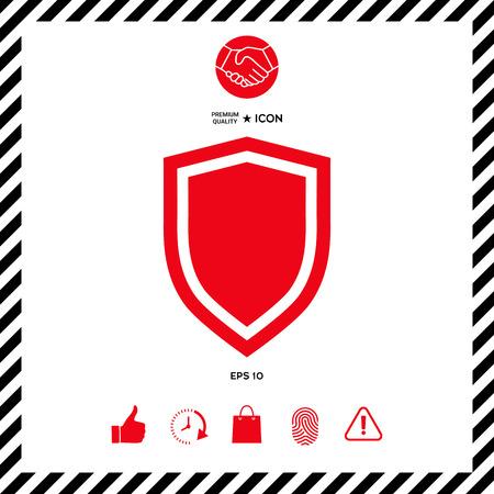 Shield, protection icon Illustration