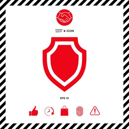 Shield - protection icon Illustration