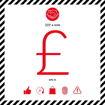 Sterling symbol icon