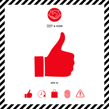 good friends: Thumb up gesture - icon