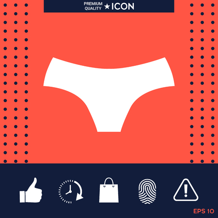 Women panties, the silhouette. Menu item in the web design Stock fotó - 88537678