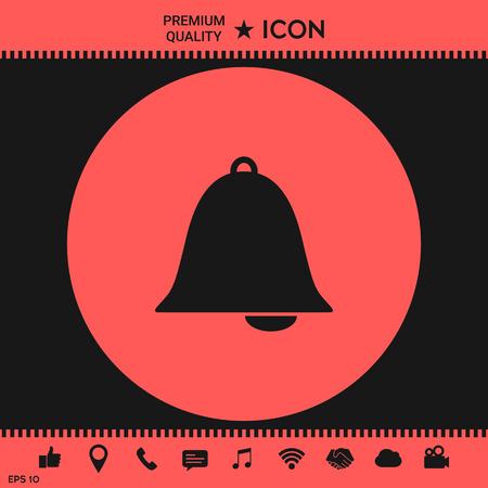 Alarm bell symbol icon