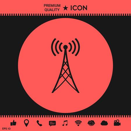 Antenna icon Illustration