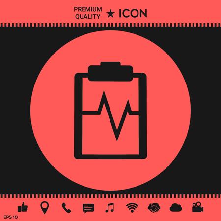 Electrocardiogram icon Illustration