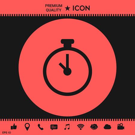 cronometro: Icono del cronómetro Vectores
