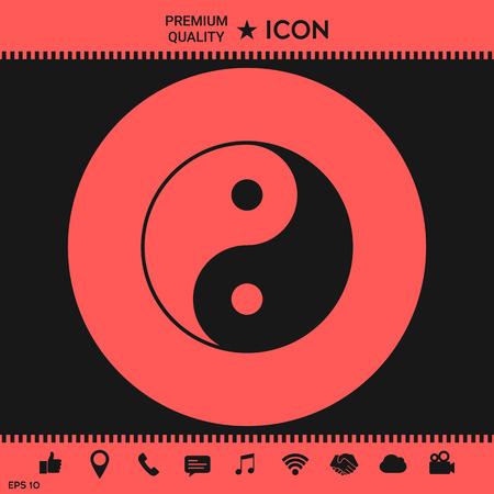 Yin yang symbol of harmony and balance