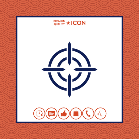 Abstract hipster with aim icon