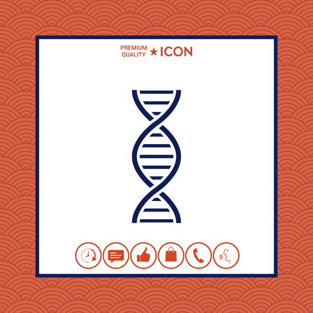 Abstract hipster design with DNA icon