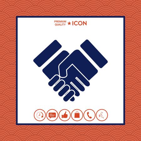 Handshake stylized symbol flat design Illustration