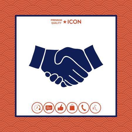 Handshake symbol flat design Illustration