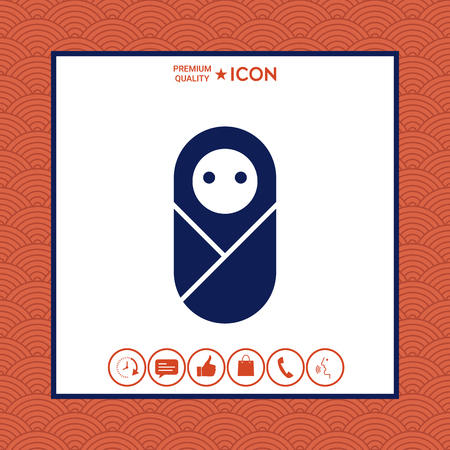 Infant, neonate, newborn icon Illustration