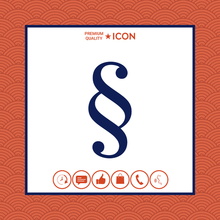 Paragraph icon vector illustration