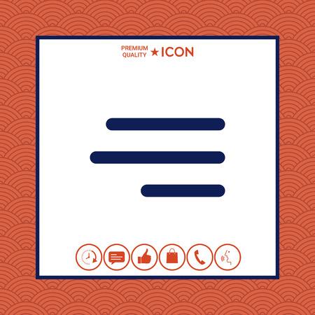 Icône de menu hamburger moderne pour les applications mobiles et les sites Web vector illustration. Vecteurs