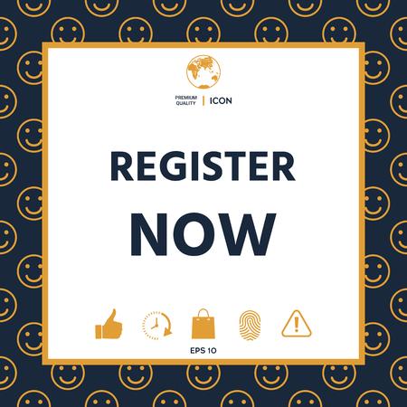 Register now button Illustration