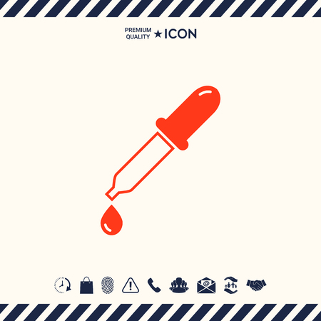 Pipette icon with drop