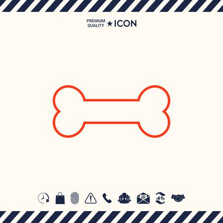 Beenlijn pictogram Stock Illustratie