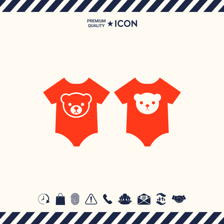 Baby rompers icon
