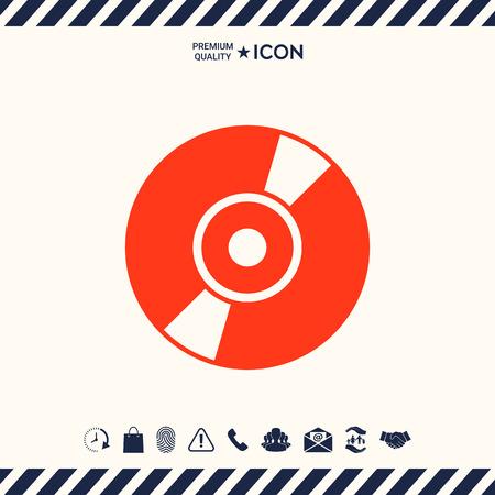 dvd: CD, DVD symbol icon Illustration