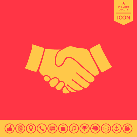 ハンドシェイクシンボル  イラスト・ベクター素材