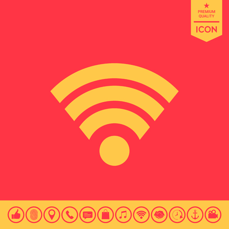 Internet connection icon.