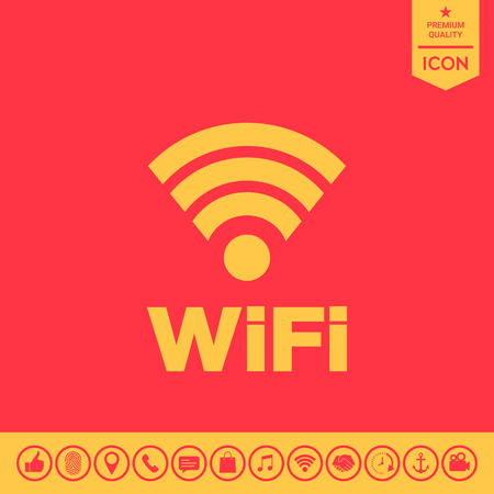 Internet connection symbol icon Illustration