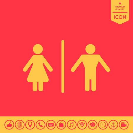 gents: Man and Woman icon. Illustration