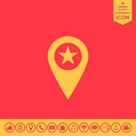 Map pointer with star Illustration