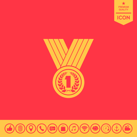 Medal with Laurel wreath.