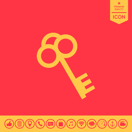 latchkey: Key icon.