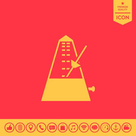 Metronome icon. Illustration
