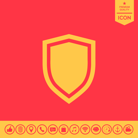 Shield, protection icon Illustration