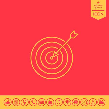Target, goal line icon Vetores