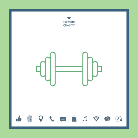 Barbell line icon Illustration