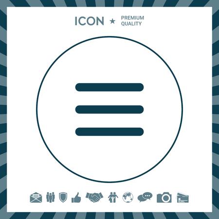 Icône de menu Vecteurs