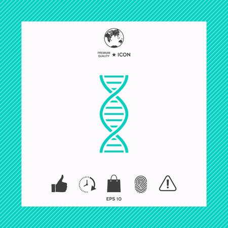 The DNA icon flat vector illustration Genetics and medicine, molecule, chromosome, biology symbol. 일러스트