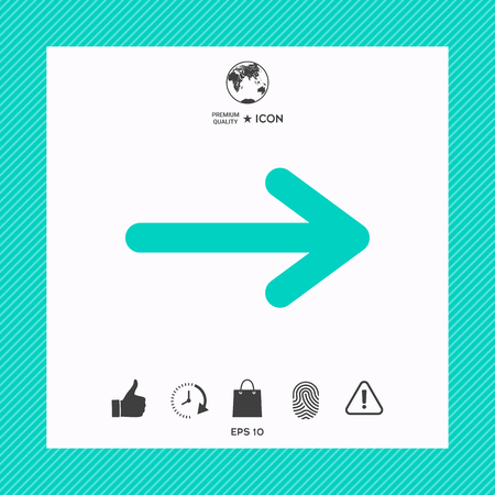 Arrow icon indicating side direction. Çizim