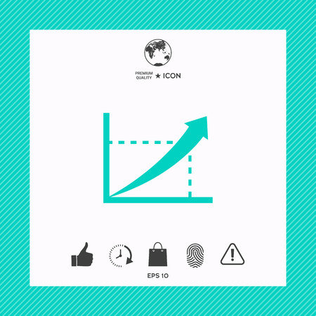 Graph with an arrow. Business growth concept Illustration