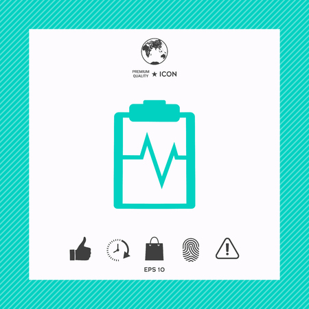 Electrocardiogram icon Illustration