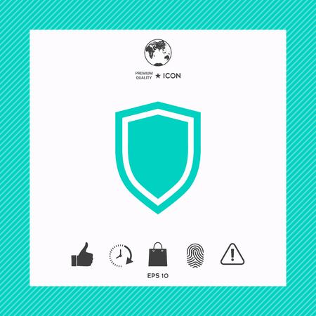Shield, protection icon Vetores