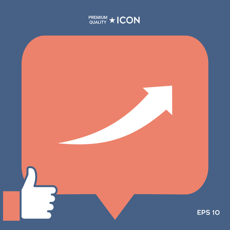 Arrow icon - up vector illustration.