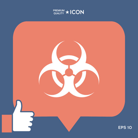 Biological hazard vector illustration.