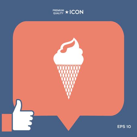 Ice cream symbol Ilustração